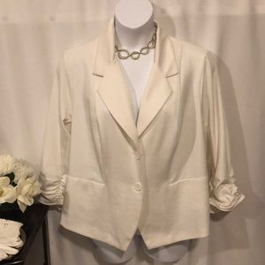 Roz & Ali cream jacket size 2X NWOT